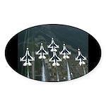 Delta Formation Oval Sticker