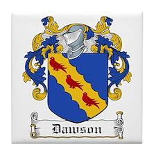 Dawson Coat of Arms Tile Coaster