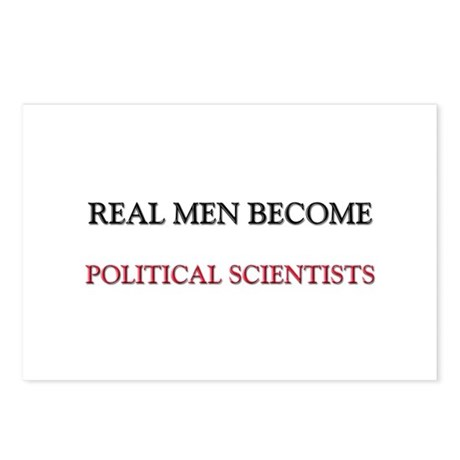 Real Men Become Political Scientists Postcards (Pa