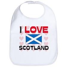 I Love Scotland Bib