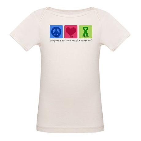 Peace Love Environment Organic Baby T-Shirt