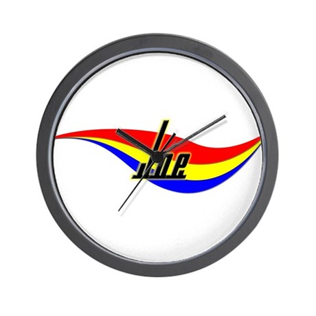 Joe's Power Swirl Name Wall Clock