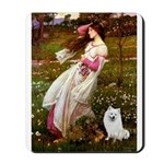Windflowers / Eskimo Spitz #1 Mousepad
