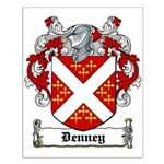 Denney Coat of Arms Small Poster