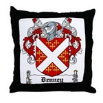Denney Coat of Arms Throw Pillow