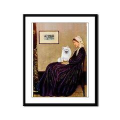 Whistlers / Eskimo Spitz #1 Framed Panel Print