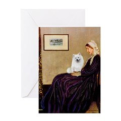 Whistlers / Eskimo Spitz #1 Greeting Card
