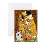 Kiss / Eskimo Spitz #1 Greeting Cards (Pk of 10)