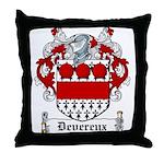Devereux Coat of Arms Throw Pillow