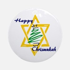 Happy Chrismukah Ornament (Round)