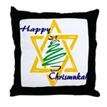 Happy Chrismukah Throw Pillow