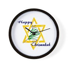 Happy Chrismukah Wall Clock