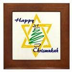 Happy Chrismukah Framed Tile