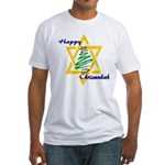 Happy Chrismukah Fitted T-Shirt
