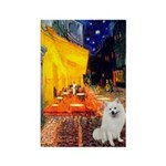 Cafe / Eskimo Spitz #1 Rectangle Magnet (100 pack)