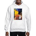 Cafe / Eskimo Spitz #1 Hooded Sweatshirt