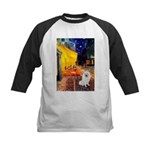 Cafe / Eskimo Spitz #1 Kids Baseball Jersey