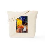 Cafe / Eskimo Spitz #1 Tote Bag