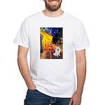 Cafe / Eskimo Spitz #1 White T-Shirt