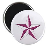 """Nautical star pink 2.25"""" Magnet (10 pack)"""