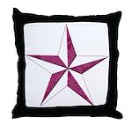 Nautical star pink Throw Pillow