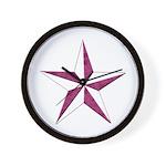 Nautical star pink Wall Clock