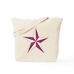 Nautical star pink Tote Bag