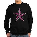 Nautical star pink Sweatshirt (dark)