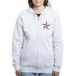 Nautical star pink Women's Zip Hoodie