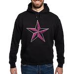 Nautical star pink Hoodie (dark)