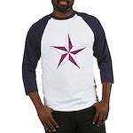 Nautical star pink Baseball Jersey