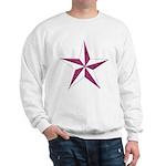 Nautical star pink Sweatshirt