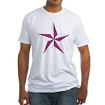 Nautical star pink Fitted T-Shirt