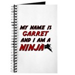 my name is garret and i am a ninja Journal