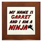 my name is garret and i am a ninja Framed Tile