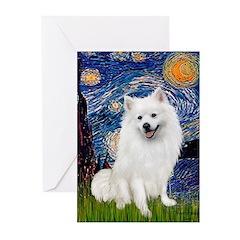 Starry / Eskimo Spitz #1 Greeting Cards (Pk of 20)