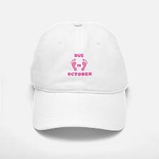 Due In October Baseball Baseball Cap (pink feet)