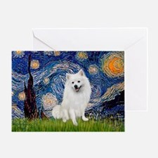 Starry / Eskimo Spitz #1 Greeting Card