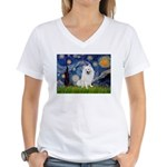 Starry / Eskimo Spitz #1 Women's V-Neck T-Shirt
