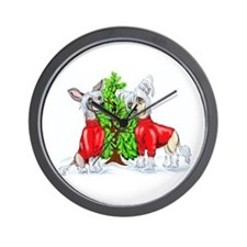 Crested Christmas Tree Wall Clock