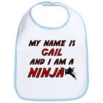 my name is gail and i am a ninja Bib
