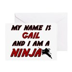 my name is gail and i am a ninja Greeting Card