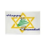 Happy Chrismukah Rectangle Magnet (10 pack)