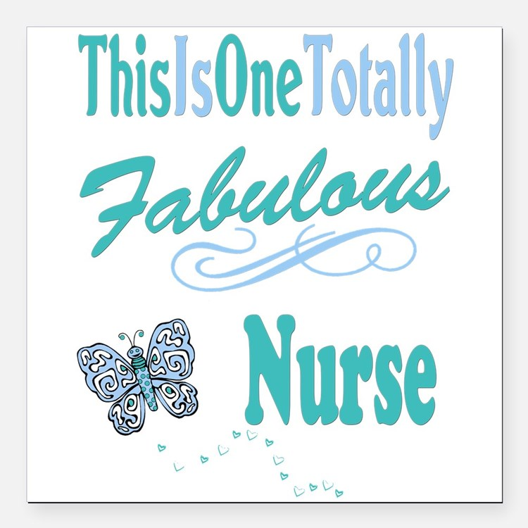 "Fabulous Nurse Square Car Magnet 3"" x 3"""
