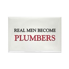 Real Men Become Plumbers Rectangle Magnet