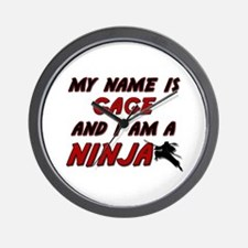 my name is gage and i am a ninja Wall Clock