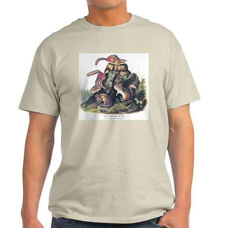 Audubon Chipmunk Animal (Front) Light T-Shirt