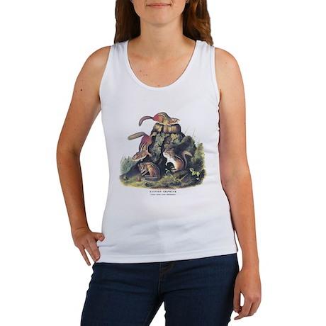 Audubon Chipmunk Animal (Front) Women's Tank Top