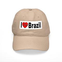 I Love Brazil Baseball Cap