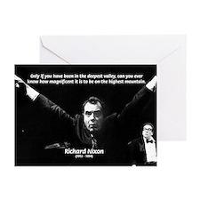 Motivation Richard Nixon Greeting Cards (Package o